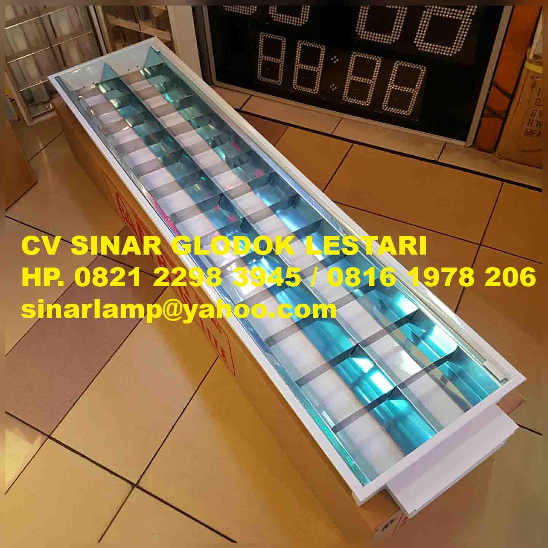 Lampu RM 2x36 Watt Konde Untuk Plafon Gypsum