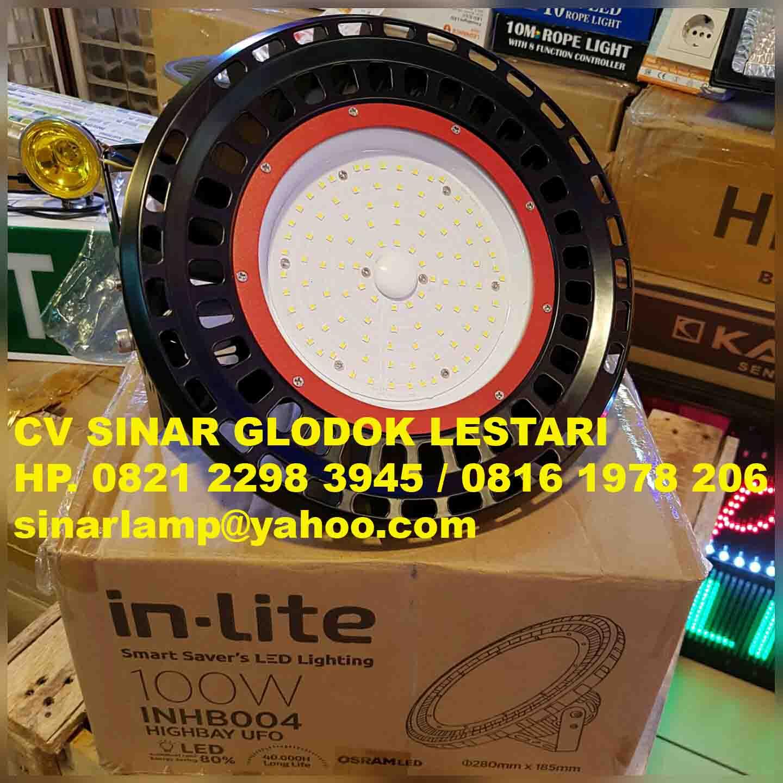 Lampu High Bay LED UFO 100 Watt Inlite
