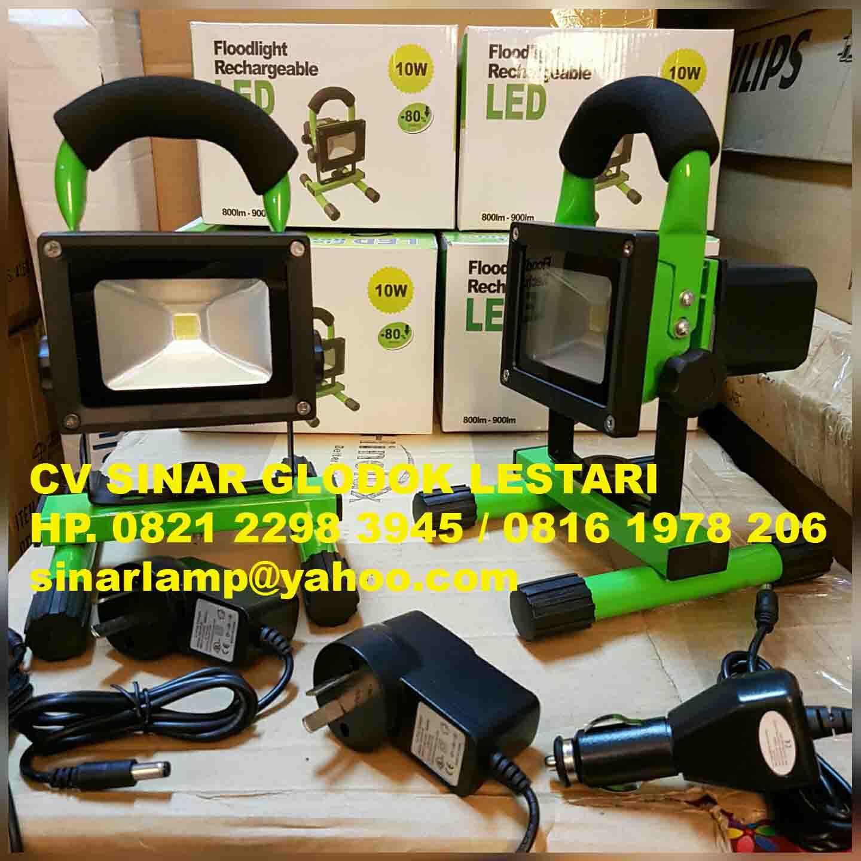 Lampu Sorot Led Portable Rechargeable