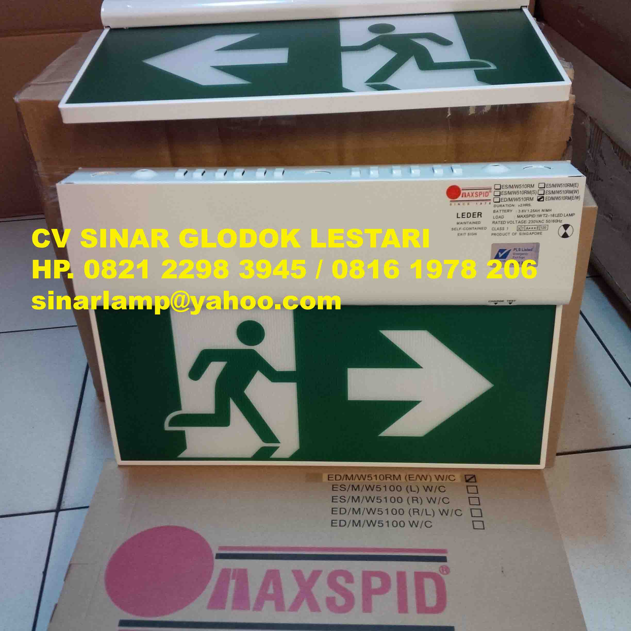 Lampu Emergency Exit Results From 105 20 Watt Maxpid Ed M W510rm Ew Wc